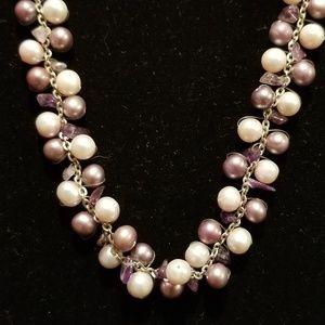 silver pearls amethyst